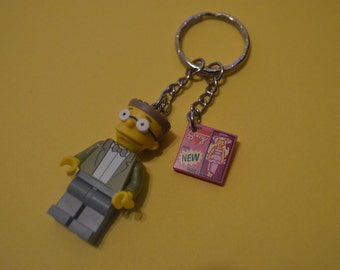 The Simpsons Lego - Mr Smithers Keyring / Keychain Minifigure!