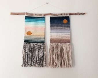 first and last hours of day / wall hanging / weaving / tapestry