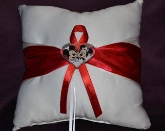 Disney Mickey & Minnie Mouse Wedding Ring Bearer Pillow