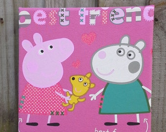Peppa pig decor etsy for George pig bedroom ideas