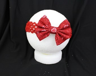 Red and pink heart headband