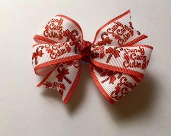 Candy cane cutie hair bow