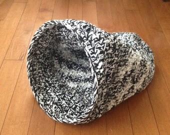 crochet handmade very cozy cat cocoon