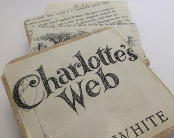 Book page coasters - Charlotte's Web