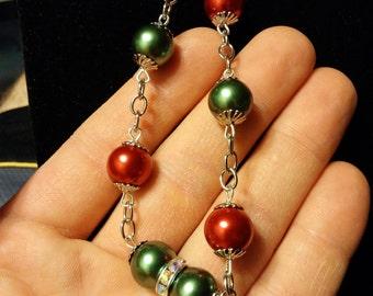 bracelet, pearls, holiday