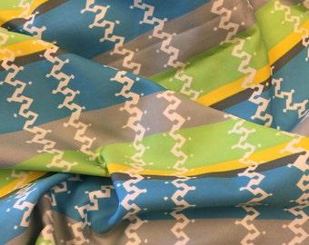Vintage Polyester Fabric. 1/2 yd. Stripe Fabric. Vintage Green Fabric. Vintage Neon Fabric. Vintage Geometric Fabric. Polyester Fabric.