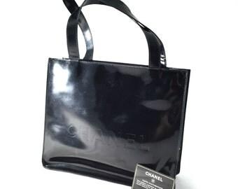 Chanel Black Patent Handbag
