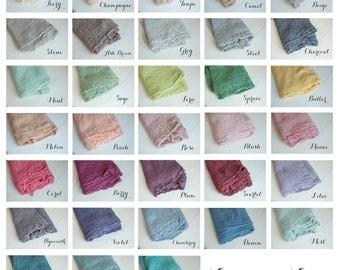 Pick 7 - Newborn Wrap Set, Newborn Photo Prop, Newborn Cheesecloth Wrap