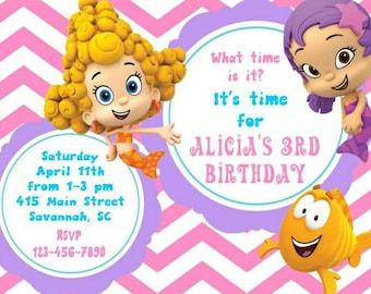 Bubble Guppies invitation, Bubble Guppies birthday invitation, Bubble Guppies birthday, Bubble Guppies Invite