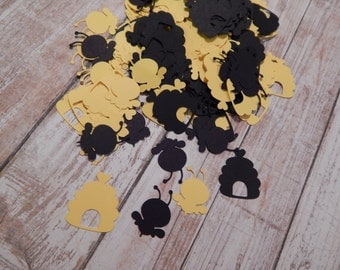 Bee Confetti, Bumblebee Table Decor, Bumble Bees, Bee Paper Embellishment