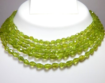 Peridot Faceted Teardrop Beads 100% Natural Gemstone Size 6.5x4 To 12x5.2 mm Approx.