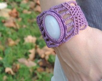 Lilac or mauve.