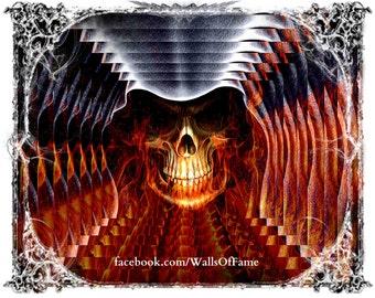 Original Artwork. Firey Skull 10