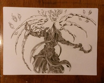 My Drawing Of Malthael From Diablo.