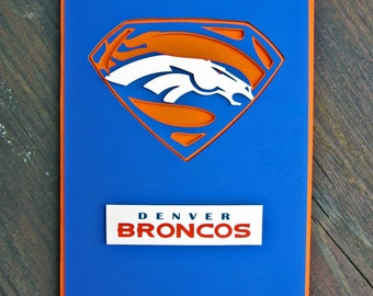 Denver Broncos Card - Super Broncos Fan, Football Team Card