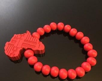 Large Red Continent Bracelet
