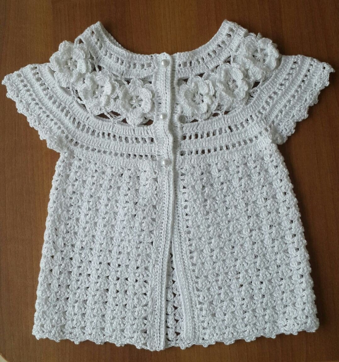 Knitting Dress Patterns For Babies : Knit baby dress knitted