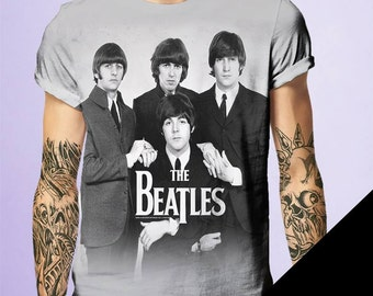 The Beatles Rock and Roll Tshirt by BornRocker Brand