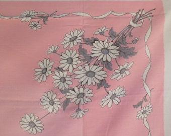 "E Mid-Century Vintage Table Cloth 65""x60"""