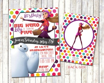 BIG HERO 6 | Honey Lemon Birthday Invitation | Digital/Printable | Girl's Big Hero 6 Birthday