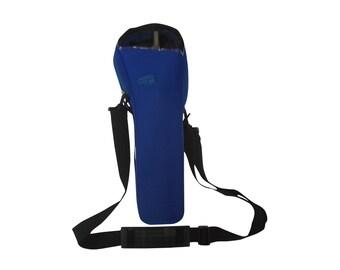 Blue oxygen cylinder carrier