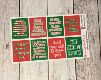 Christmas Vacation Inspired Quote Boxes- Erin Condren/Happy Planner/Plum Planner