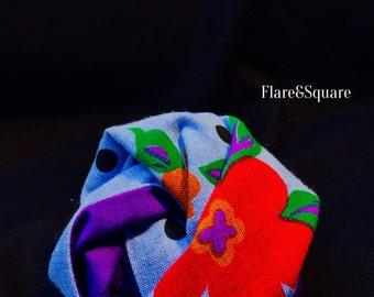 Floral Pattern & Purple pocket square