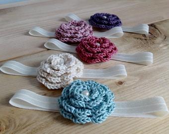 Crocheted headband for baby. Baby girl headband, Children's headband, Newborn photo prop.