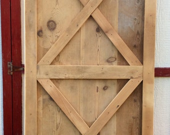 Barn Door crafted from reclaimed lumber