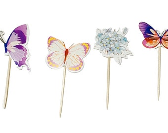 Butterfly Garden Cupcake Toppers