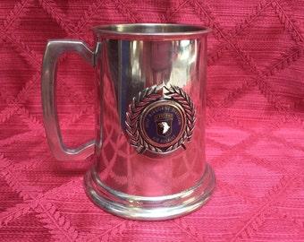 101st Airborne Beer Mug, Beer Stein, English Pewter Tankard