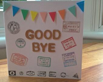 Travel goodbye card