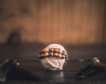 Native American Newborn Beaded Bracelet; Photography Prop; Baby Jewelry