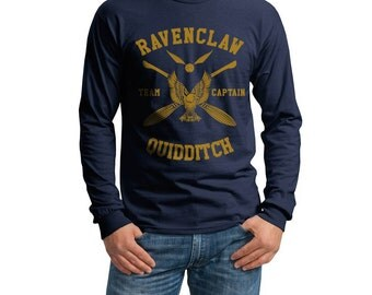 CAPTAIN - Ravenclaw Quidditch team Captain YELLOW on Longsleeve MEN tee
