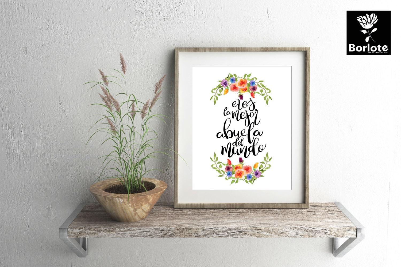 Dia de las madres eres la mejor abuela del mundo for Adornos para el hogar