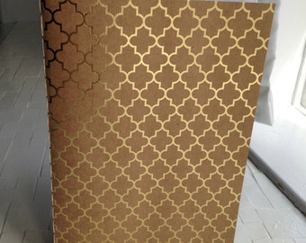 Gold-foiled, Brown Paper Notebook
