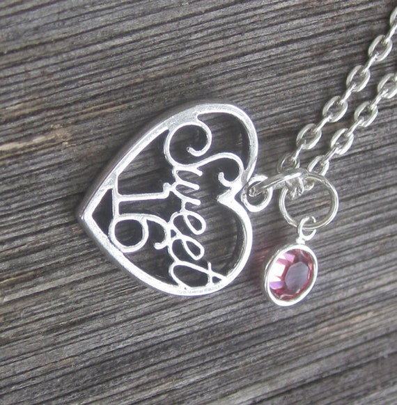 Sweet 16 Charm Bracelet: Sweet Sixteen Necklace Sweet 16 Charm Necklace By