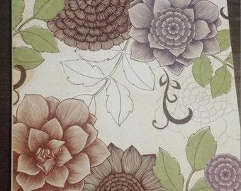 Floral Greeting Card-Blank