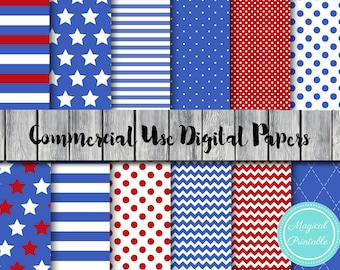Blue and Red Digital Paper, Hero Digital Papers, Commercial Use, Scrapbook Digital Paper, Digital Background, dp136