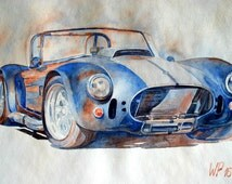 Shelby AC Cobra - Original Painting in apuarell on high quality aquarell-paper