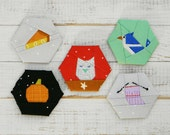 Fall Fancies - a paper piecing hexagon pattern