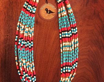 fun, lightweight, beaded necklace