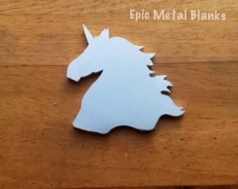 Aluminium Unicorn Head Blank, Unicorn Stamping Blank,Metal Stamping, Unicorns, Aluminum Blanks, Unicorn jewellery, aluminium Unicorn Blank