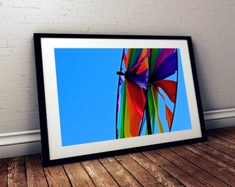 twirl, pinwheel, rainbow, sky, colorful, boothbay harbor, maine, new england, photography, fine art print