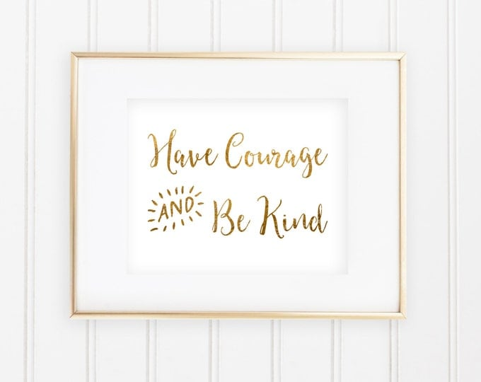 Cinderella - Have Courage & Be Kind - Real Foil