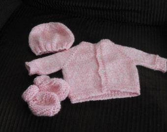 Hand Knit Preemie Baby Set