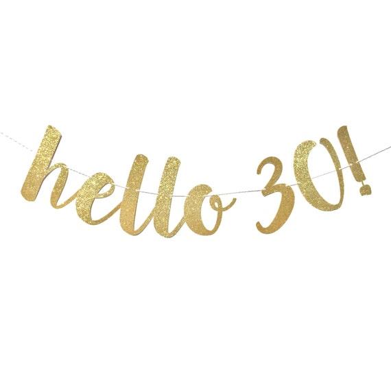 30th Birthday Decorations Hello 30 Birthday Banner 30th