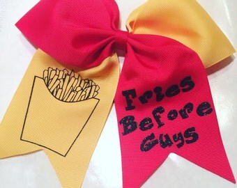 Fries Before Guys Hair Bow / Softball Bow / Cheer Bow / Volleyball Bow