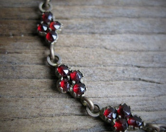 Victorian Bohemian Garnet Necklace