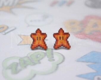 Super Mario Super Star Gaming Stud Earrings